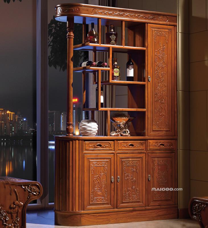 中式酒柜效果图 中式酒柜造型图片