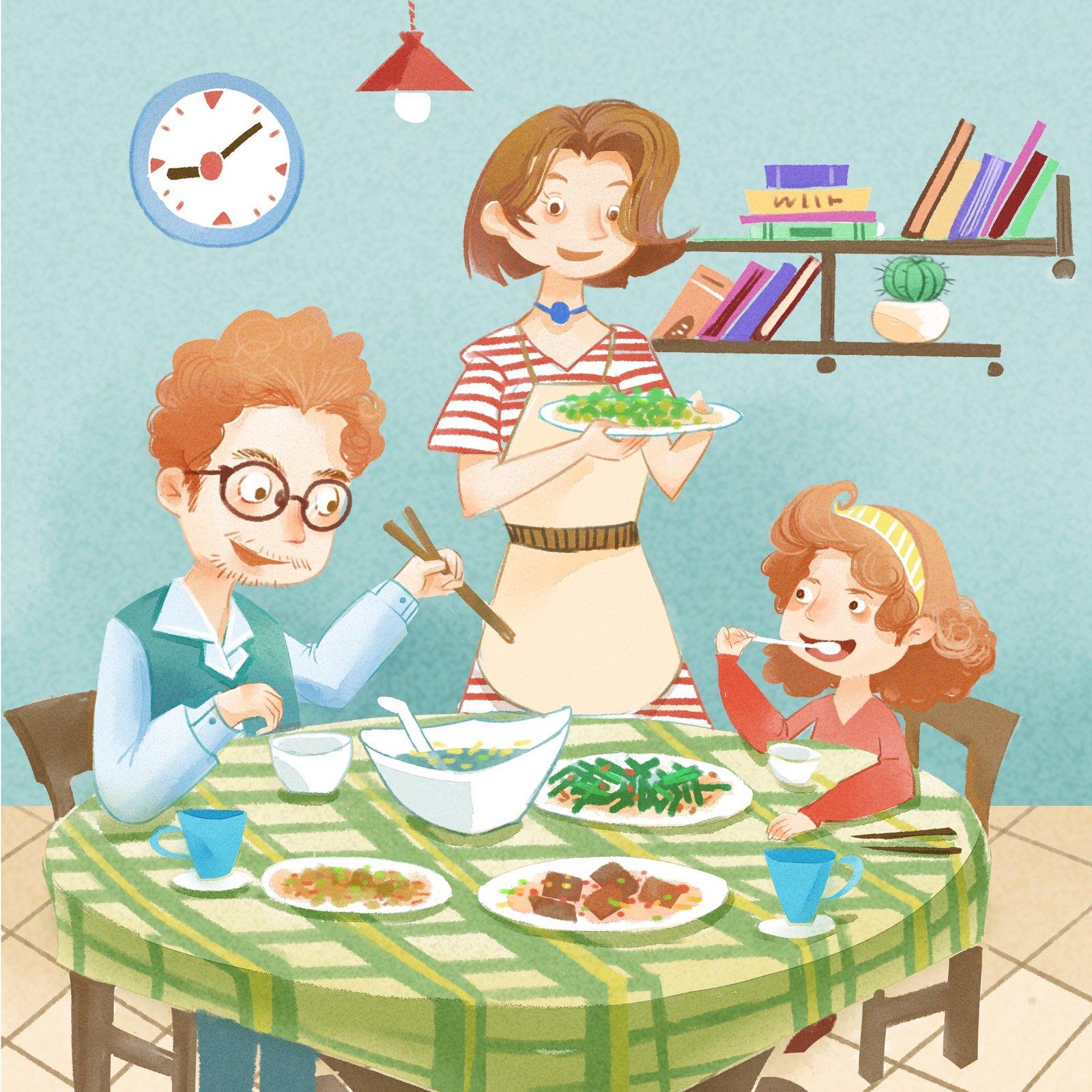 家庭聚会图