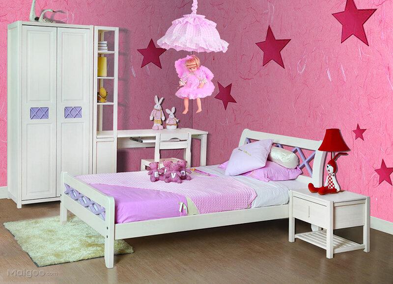 欧式风格儿童房卧室装修效果图 让家里的小天使健康快乐的成长图片